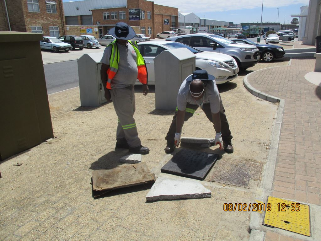 repairing man hole